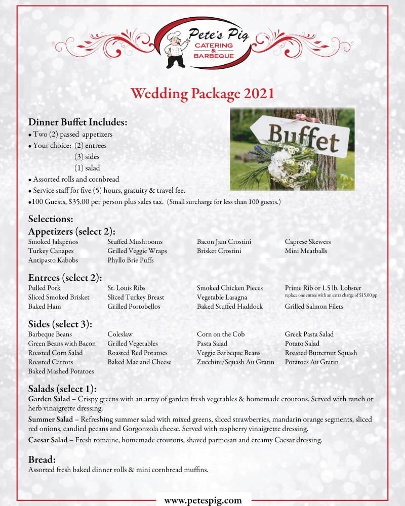 Wedding Packages 2021