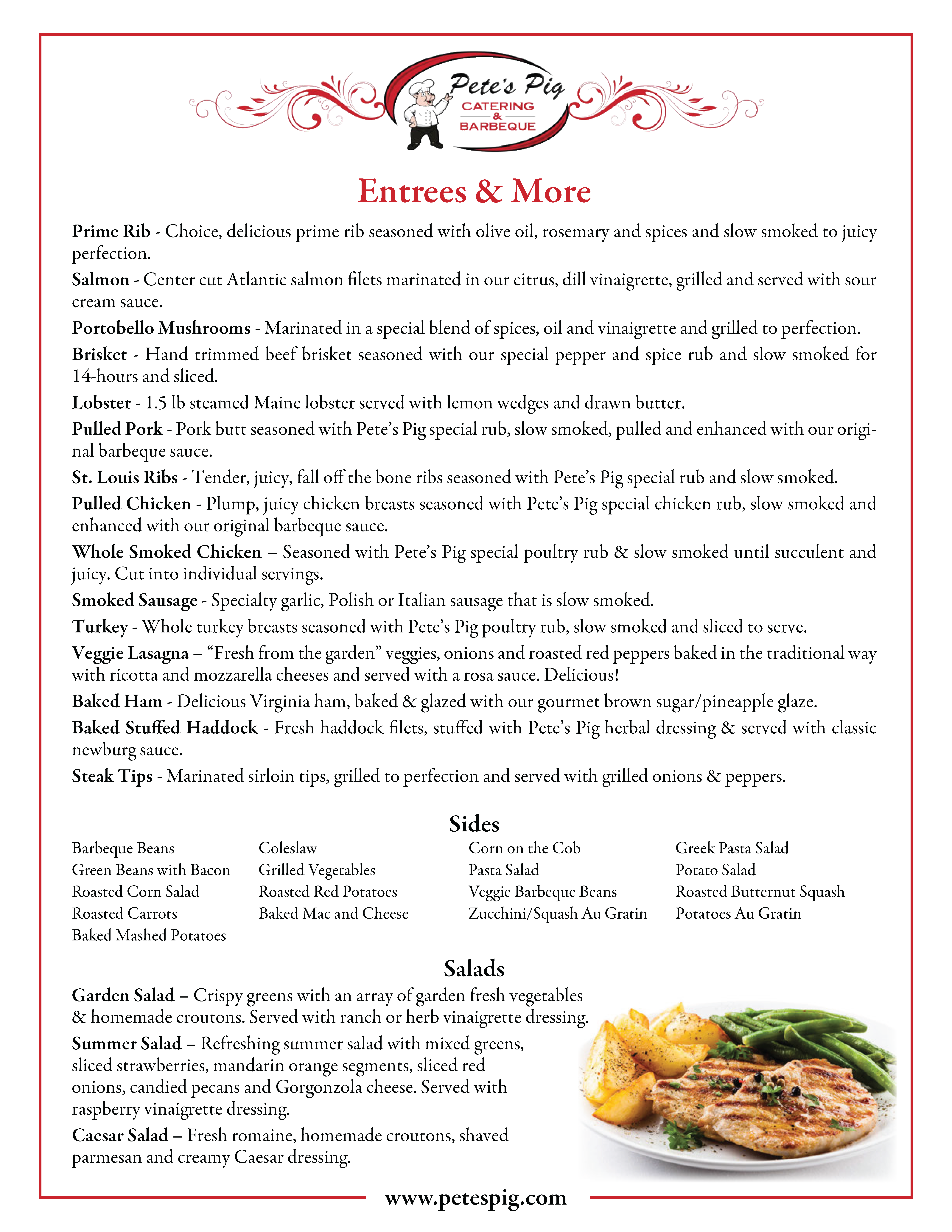 entrees and more