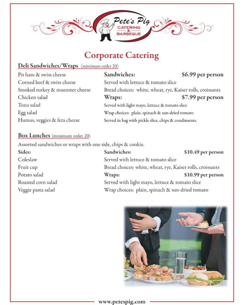 corporate menu page 1