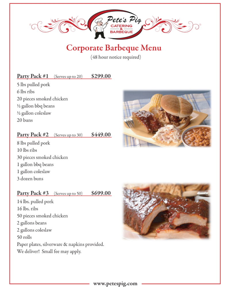 corporate menu page 2